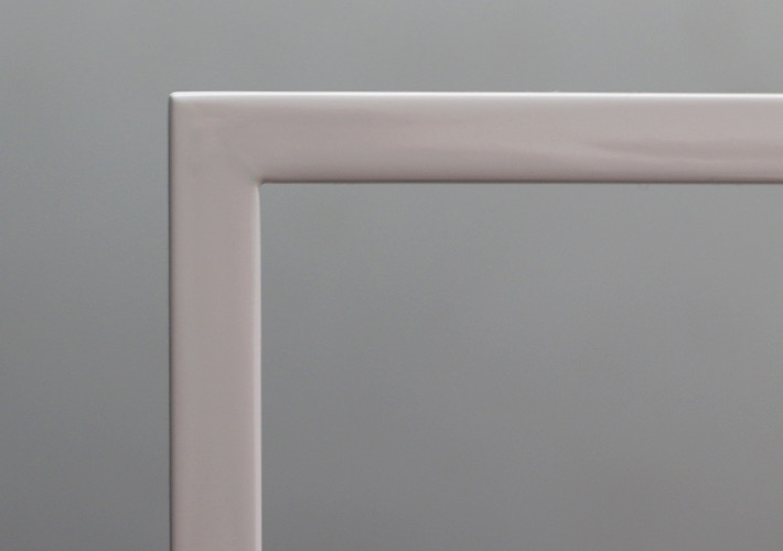 Spray finish frame